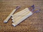 Pocket toy made of jute with handle