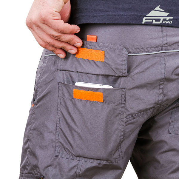 Comfortable Design FDT Professional Pants with Reliable Back Pockets for Dog Trainers