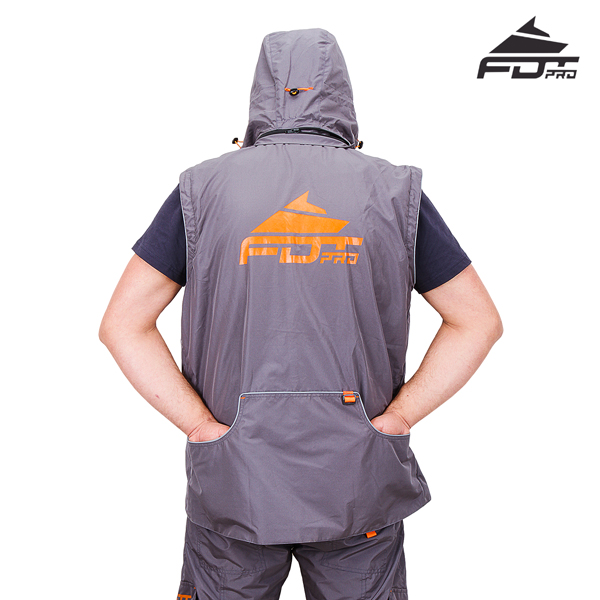 Pro Dog Trainer Jacket with Back Pockets for All Weather Use