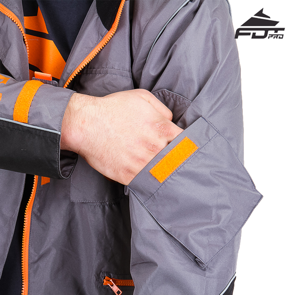 Comfortable Sleeve Pocket on Pro Design Dog Trainer Jacket