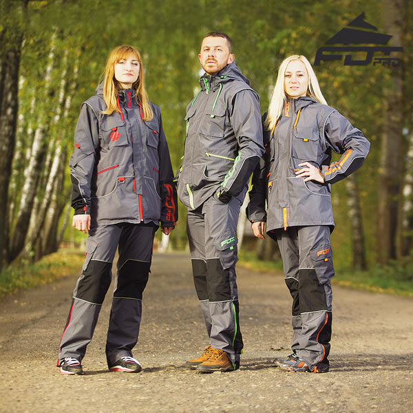 Reliable Dog Trainer Suit for Any Weather with Reflective Strap